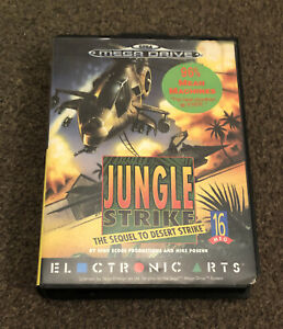 Jungle Strike Sega Mega Drive Game Boxed & Complete With Manual SIGNED FOR Post