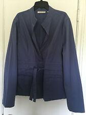 Coldwater Creek Women's Jacket Coat Size 14 Blue Lightweight