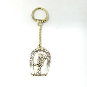 VIntage 70's NOS Metal Lucky Piece Couple Sex Naughty Gag Gift Key Chain Ring