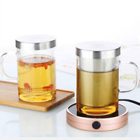 450ml Infuser Glass Tea Cup Borosilicate Glass Tea Cup with Filter and Lid