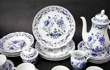 (4) Vtg Retsch & Co Wunsiedel Blue Onion Luncheon Plates Bavaria Porcelain