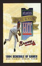 Greg Maddux--Atlanta Braves--1994 Pocket Schedule--WDEF/Hardee's