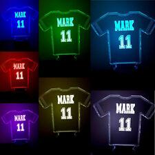 Cumpleaños, Fútbol, Personalizado Camiseta, cambio de 7 Colores 3D Lámpara LED Ilussion,