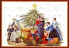 Weihnachtsfest im Biedermeier Adventskalender mit 24 Türchen Reprint von ca.1825