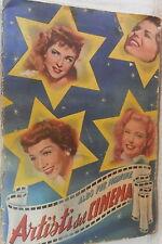 ALBO PER FIGURINE ARTISTI DEL CINEMA 1951 INCOMPLETO Collezionismo Attori Stars