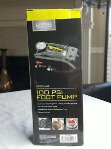 NEW LIVING SOLUTIONS 100 PSI FOOT PUMP