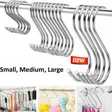 S Hooks Stainless Steel Hanging Kitchen Utensil Clothes Hanger 10 20 50 100 Pcs