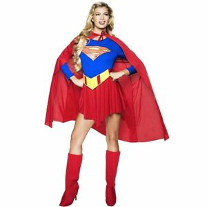 Superwoman Supergirl Superhero Cosplay Halloween Hen Party Fancy Dress Costume