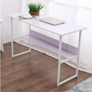 Small White Computer Desk Writing Corner PC Table Laptop Home Office Workstation