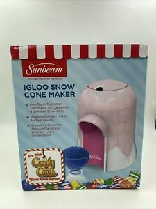 Sunbeam Igloo Snow Cone Maker Shaved Ice New Pink Rare