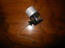 New 3-Way Brass Beaded Pull Chain Medium Base Lamp Socket By ADL Model D52