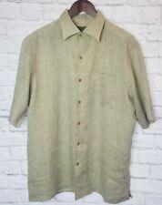 J.L. Powell The Sporting Life Men's Size L Tan 100% Linen Shirt