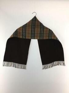 Authentic Burberrys nova check beige wool scarf 30cm x 138cm