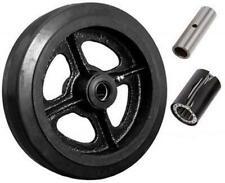 Caster Barn 8 X 2 Mold On Rubber On Cast Iron Steel Wheel 600 Lbs Cap