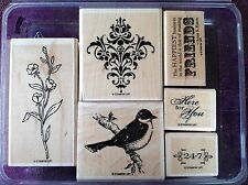 Friends 24-7 - Stampin Up - Wood Mounted Rubber Stamp Set