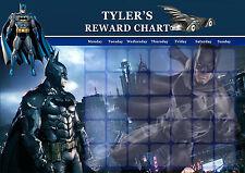 PERSONALISED CHILD'S BATMAN REWARD CHART MAGNET STRIPS & REWARD STAR STICKERS