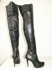 TOPSHOP 'bunny2' over the knee thigh high faux leather boots uk 6 eu 39 us 8.5