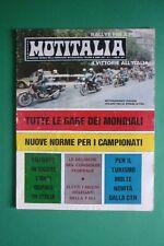 MOTITALIA 7/1977 CALENDARIO GARE DEI MONDIALI SWM RS 125 MC-250 GS