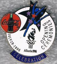 Rare 1996 Atlanta Coca-Cola Logo Olympic Opening Ceremonies Torch Mark Pin