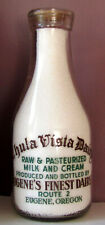 CHULA VISTA DAIRY EUGENE OREGON ROUTE 2 RAW & PASTEURIZED MILK & CREAM BOTTLE