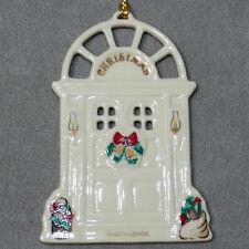 Christmas Ornament Lenox Bone China in Box #05 Retired 1990 Bells Front Door 3.5