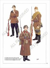 PLANCHE UNIFORMS PRINT  RUSSIA Soviet Armed Forces Armée rouge Red Army USSR