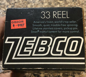 Vintage ZEBCO Model 33 Spinning  Reel, Box Only & Instructions