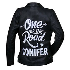 Alex Turner One for The Road Conifer Black Leather Jacket with Free Shipping