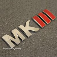MKIII Car Boot Trunk Tailgate Emblem Badge Decal Sticker MK3 Mark 3 Logo VW *