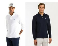 North Sails Mens Cotton Pique Long Sleeve Polo Shirt T shirt top S M L XL 2XL