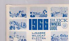 1966 BUICK  car owners manual - LESABRE WILDCAT ELECTRA 225
