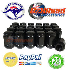 NISSAN PATROL Black Wheel Nuts x 24 | 100% MONEY BACK GUARANTEE