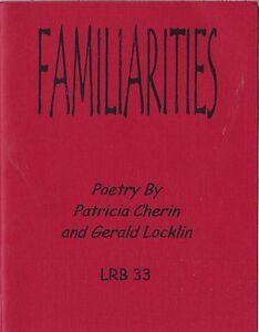"""GERALD LOCKLIN & PATRICIA CHERIN """"FAMILIARITIES"""" 2001 LITTLE RED BOOK VOLUME 33"""