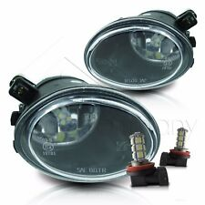 01-05 BMW E46 M3 & 00-03 E39 M5 Fog Lights Pair Set Lens w/LED Bulbs - Clear