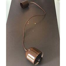lampenpendel Luz Colgante Cable de suspensión la lámpara E27 Marrón