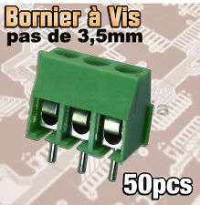 974V/50# Bornier à vis pas de 3,5mm 3 pôles 50pcs -- vert