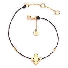 Daisy Good Karma Bracelet - Fleur de Lis - 24kt Gold Vermeil
