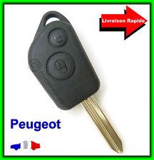 Coque Télécommande Plip Clé Bouton Boitier Peugeot Partner + Lame vierge