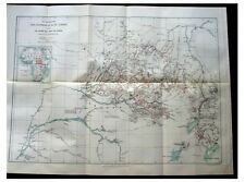 1887 Junker - MAPPING CONGO RIVER - Nile Sources - COLOR ROUTE MAP - Africa - 7