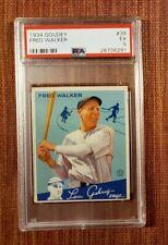 1934 Goudey #39 Fred Walker New York Yankees Vintage Original Baseball Card RC