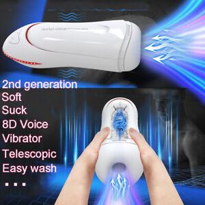 Automatic HandsFree Male Masturbaters Telescopic Cup Stroker Voice Men Sex Toy
