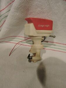 Vintage Langcraft Electric Powered Toy Outboard Motor  - needs repair