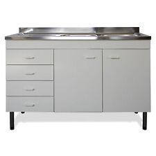 Mobile sottolavello per cucina completo di lavello in acciaio inox e cassettiera
