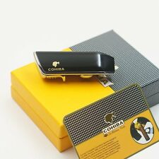 COHIBA Black 3 TORCH JET FLAME CIGAR CIGARETTE LIGHTER With PUNCH Free SHIPPING