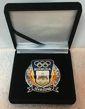 Rio 2016 Bermuda Large Boxed Olympic National Olympic Committee (NOC) Pin Badge