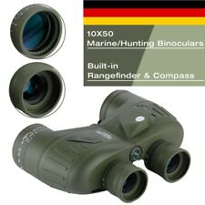 10X50 Fernglas Feldstecher Binocular Marine Jagdfernglas W/Distanzmesser Kompass