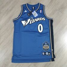 NWT Gilbert Arenas Wizards Adidas Swingman Limited Edition Jersey size L blue