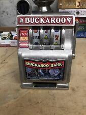 BUCKAROO BANK Vintage Toy Slot Machine Radica Works Great!