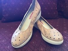 Sabrinas Women's Soft Leather Slip-on Shoes Nude Neutral Sz 39 US 8.5 Org $170