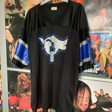 VINTAGE WWE WWF THE ROCK AMERICAN FOOTBALL STYLE JERSEY WRESTLING T-SHIRT 2XL